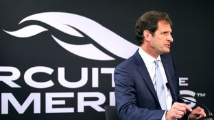 Bobby Epstein, Chairman and CEO of Circuit of the Americas, speaks at a press conference concerning F1's return to COTA at the COTA Downton Paddock on March 9, 2016.