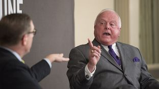 Texas Agriculture Commissioner Sid Miller challenges Texas Tribune editor Evan Smith during TTEvents on Mar. 10, 2016.