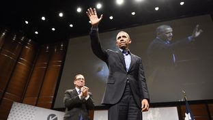 Texas Tribune CEO and Editor-in-Chief Evan Smith interviewed President Barack Obama about civic engagement in a digital age at Austin's South by Southwest on March 11, 2016.