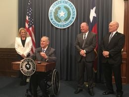 "Texas Gov. Greg Abbott at a press conference on March 14, 2016 dismissed President Obama's criticisms of the state's efforts to improve voter turnout, arguing that the state must crack down on ""rampant"" voter fraud."