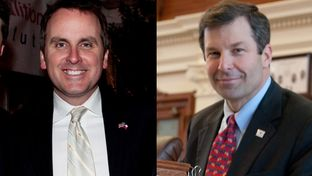 State Reps. Bryan Hughes, R-Mineola, and David Simpson, R-Longview, competed in a runoff in the GOP race for Senate District 1.
