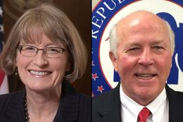 State District Judge Mary Lou Keel (l) and state District Judge Ray Wheless