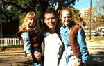 John Battaglia and his two daughters, Liberty (l.) and Faith, who he murdered on May 1, 2001.