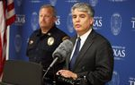 Gregory Fenves, president of the University of Texas, speaks at a press conference at the University of Texas Police Department building concerning investigation into a possible homicide that occurred on campus on April 5, 2016.