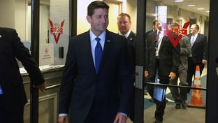 U.S. House Speaker Paul Ryan at the Republican National Committee in Washington D.C. on April 12, 2016.