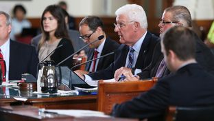 DFPS Commissioner John Specia appears before the Senate Health and Human Services Committee at the Texas Capitol on April 20, 2016.