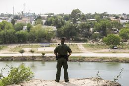 From Roma, Texas, Border Patrol Agent Isaac Villegas looks out over the Rio Grande and into Ciudad Miguel Alemán, Mexico, on March 8, 2016.