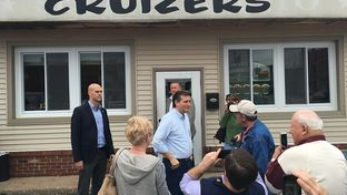 U.S. Sen. Ted Cruz on the presidential campaign trail in Winamac, Indiana on May 1, 2016..