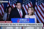 Texas Sen. Ted Cruz announces his withdrawal from the presidential campaign in Indianapolis, Indiana on May 3, 2016.