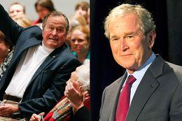 George H.W. Bush (l) and George W. Bush