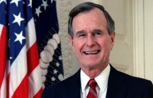 George H. W. Bush, the 41st president of the United States.