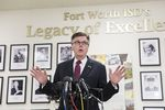 Lt. Gov. Dan Patrick expressed his opposition to new rules for transgender children in the Fort Worth Independent School District at a press conference in Fort Worth on May 10, 2016.