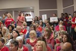 Opponents and supporters of the Fort Worth Independent School District's guidelines for transgender children pack a school board meeting on May 10, 2016.