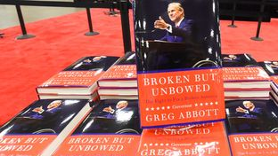 "Texas Gov. Greg Abbott's book, ""Broken But Unbowed,"" was available for purchase for the first time at the Texas GOP convention on May 12, 2016."