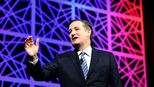Former presidential candidate and U.S. Sen. Ted Cruz speaks at the state Republican convention in Dallas, Texas on May 14, 2016.