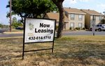 A leasing sign outside Garden Court Apartments in north Midland, where rent for a one-bedroom can run as high as $850 per month. Leasing signs were an uncommon sight in Midland as recently as 2014, when apartment occupancy nearly hit 100 percent. It's fallen to about 80 percent now, according to the Permian Basin Apartment Association.