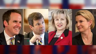 (L-R) State Rep. Bryan Hughes, R-Mineola, beat state Rep. David Simpson, R-Longview, in the runoff for SD-1, while state Rep. Susan King, R-Abilene, lost to Dawn Buckingham in SD-24.