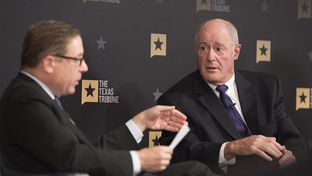 Texas Tribune editor Evan Smith and Sen. Kel Seliger, R-Amarillo talk education at TTEvents on May 26, 2016.