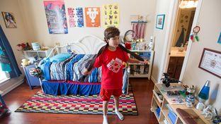 Benjamin Elder, 10, showing his  his bedroom in Friendswood, Texas Tuesday, June 7, 2016.