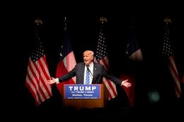 GOP presidential hopeful Donald Trump rallied supporters at Gilley's in Dallas on June 16, 2016