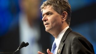 US Congressman Filemon Vela during evening speech at the Texas Democratic Convention on June 17, 2016