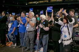 The Texas Democratic convention at the Alamodome on June 17, 2016.