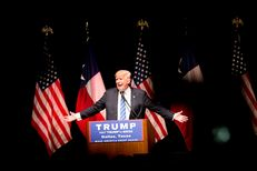 GOP presidential hopeful Donald Trump rallied supporters at Gilley's in Dallas on June 16, 2016.