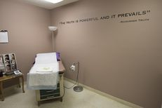 An exam room at ChoiceWorks, formerly Whole Woman's Health Clinic, on June 27, 2016, the day the U.S. Supreme Court struck down portions of HB 2 restricting women's access to abortions in Texas.