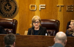 Chairman of Texas Public Utility Commission, Donna Nelson, during a hearing on Jan. 11, 2016.