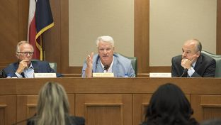 State Reps Todd Hunter, Lyle Larson and Chris Turner listen as representatives of the State Auditor's Office testify before the House Committee on General Investigating and Ethics July 12, 2016.  The committee is investigating the use by state agencies of emergency leave and settlement payments to departing employees.