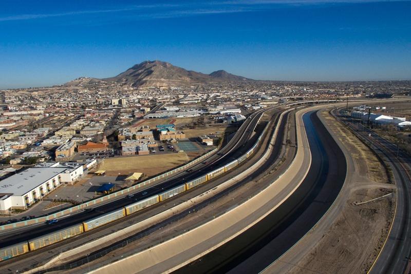 The Rio Grande between El Paso and Ciudad Juarez.