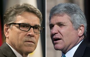 Former Gov. Rick Perry and U.S. Rep. Michael McCaul, R-Austin.