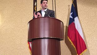 U.S. House Speaker Paul Ryan addressed the Texas delegation on  on July 19, 2016, Day 2 of the Republican National Convention in Cleveland.