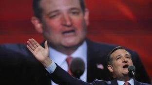 Former Republican U.S. presidential candidate Ted Cruz speaks during the third night of the Republican National Convention in Cleveland, Ohio on July 20, 2016. REUTERS/Brian Snyder