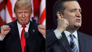 Republican nominee for president Donald Trump and U.S. Sen Ted Cruz.