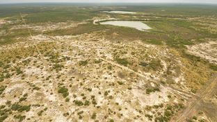 An aerial view of the site of a proposed landfill by Laredo developer C. Y. Benavides. The site is about 20 miles east of Laredo.