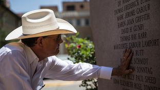 Cliff Martinez was moved by the memorial honoring the victims and survivors of Charles Whitman's shooting spree on the 50th anniversary of the attack. Martinez's uncle, Ramiro Martinez, was one of two police officers who confronted and shot Charles Whitman on Aug. 1, 1966.