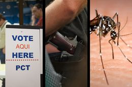 Texas agrees to soften its voter ID law for the November elections, the state's new campus carry gun law quietly takes effect and state officials give the 'O.K.' for Medicaid to pay for mosquito repellant to help combat the spread of Zika.