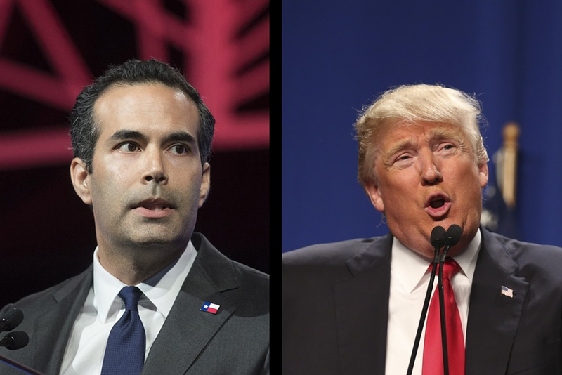 Texas Land Commissioner George P. Bush (l.) and Republican nominee Donald Trump.