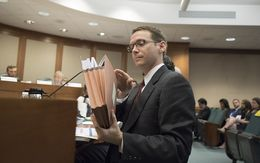 State Education Commissioner Mike Morath testifies Tuesday Aug 16, 2016 before the Senate Education Committee at the Texas Capitol.