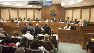 The Senate Education Committee interim hearing at the Texas Capitol Aug. 16, 2016.