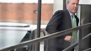 Texas Attorney General Ken Paxton entered a federal courthouse in Sherman on Sept. 2, 2016. Paxton's lawyers argued in a hearing that the federal civil fraud case against him should be dismissed.