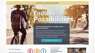 After closing all campuses nationwide, ITT Tech's official website announces they will no longer enroll new students.