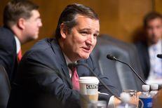 U.S. Sen. Ted Cruz, R-Texas, speaks during a U.S. Senate Judiciary Committee hearing in Washington, D.C., to consider five nominees to fill vacancies on federal courts in Texas. The hearing was Sept. 7, 2016.