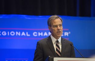 Joe Straus, Texas Speaker of the House, speaks at an 85th Legislation Session Preview at the Dallas Regional Chamber on Tuesday, Sep. 13, 2016.
