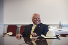 Texas Agriculture Commissioner Sid Miller in his office in Austin, Sept. 14, 2016.
