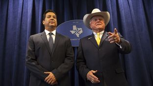 Texas Agriculture Commissioner Sid Miller, right, hosts Tamaulipas Gov.-elect Francisco Garcia Cabeza de Vaca on Wednesday at the Texas Department of Agriculture's office in Austin to discuss agriculture issues along the Texas/Tamaulipas border, economic development in the Rio Grande Valley of Texas, immigration and border security.