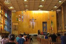 Parishioners attend a mass at Catedral de Nuestra Señora de Guadalupe in Ciudad Juárez.