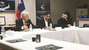 U.S. House Minority Whip Steny Hoyer (left) campaigns Thursday in San Antonio with Democratic congressional candidate Pete Gallego (center).