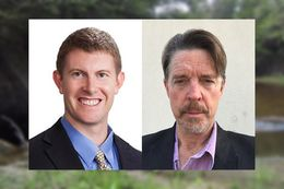 Gabe Collins (l.) and Hilmar Blumberg are co-authors to an article about an alternative form of groundwater management by local groundwater districts.